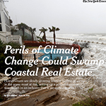 Picture of NY times article about coastal flooding due to climate change