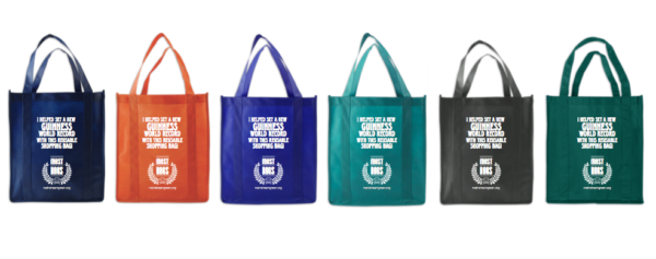 Big, beautiful, strong and FREE! reusable shopping bags you'll want to keep with you. #mostreusableshoppingbagsdistributedin24hours