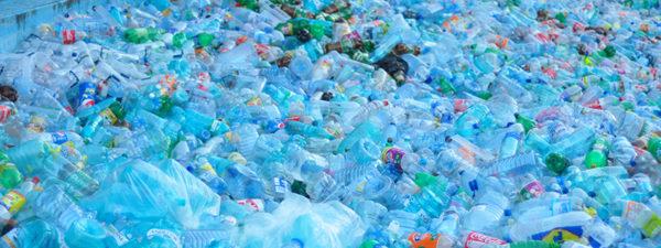 A sea of blue plastic bottle is no joke