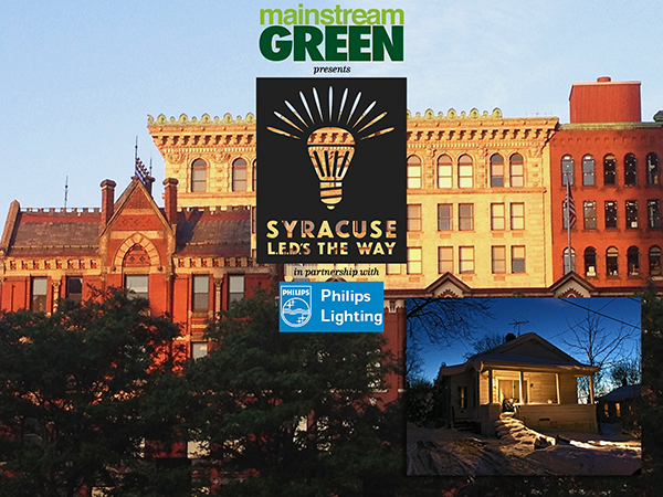 "Mainstream Green, Inc. is partnering with Philips Lighting USA in a unique new program called ""Syracuse LED's The Way."""
