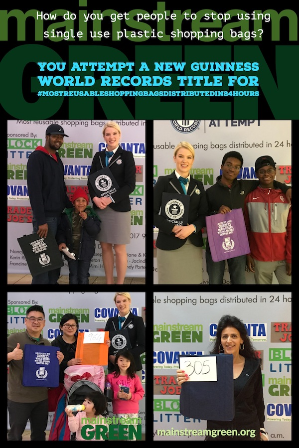 People had a great time at Mainstream Green's Guinness World Records Title attempt for Most Reusable Shopping Bags Distributed in 24 Hours
