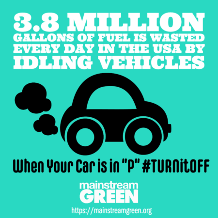 Idling vehicles waste 3.8 million gallons of fuel a day
