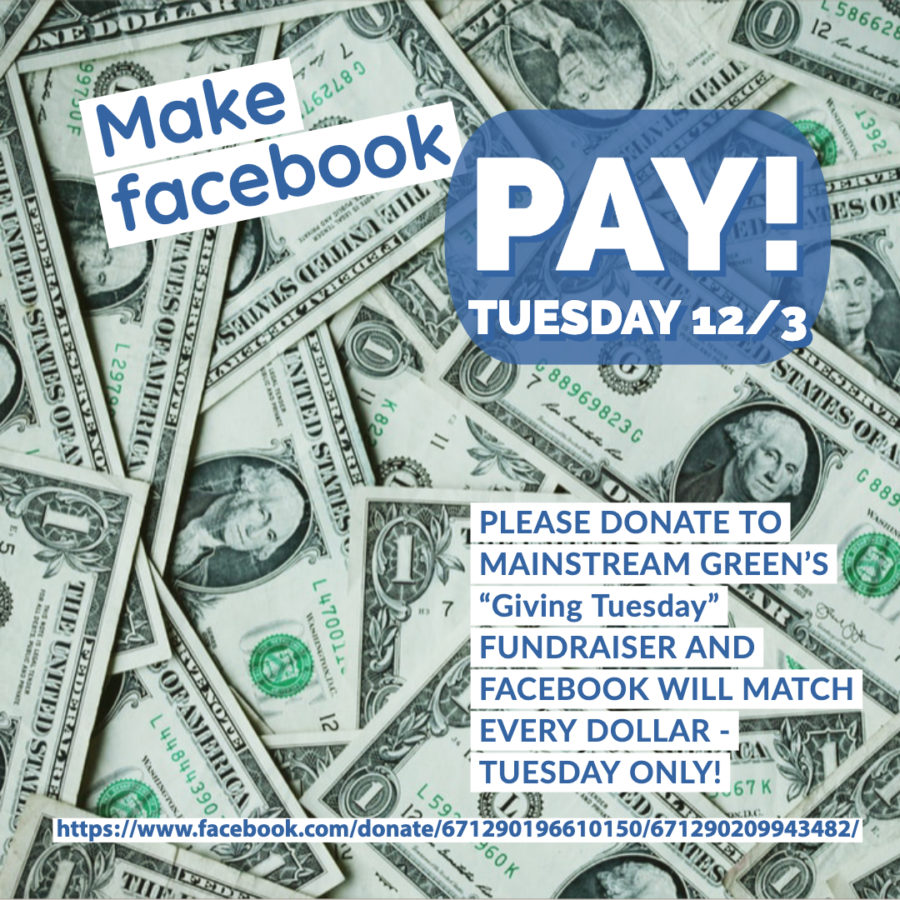 Make Facebook Pay on giving Tuesday December 3